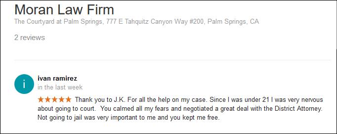 DUI Attorney Palm Springs