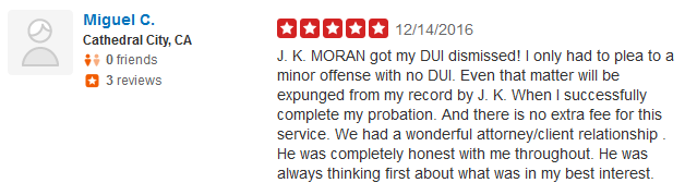 YELP review Moran Law Firm